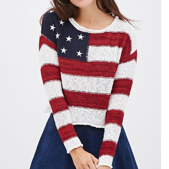 Forever 21 Sweaters - American flag Sweater